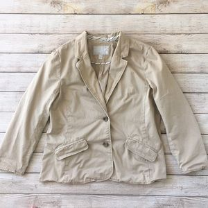 Old Navy Khaki Blazer Style Cotton Jacket